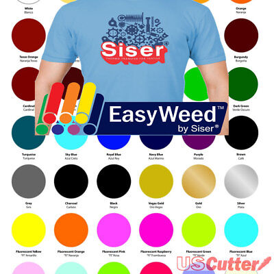 """30 Sheets SISER EasyWeed Heat Transfer Vinyl - 15""""x12"""" Assorted Color For Tshirt"""
