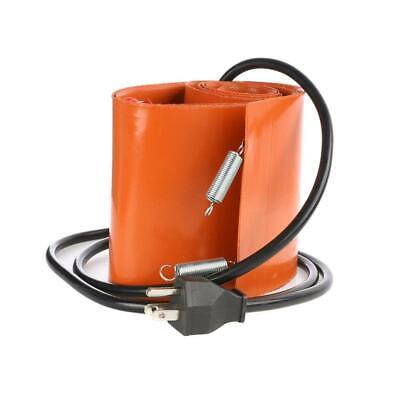 55 Gallon 1200w Silicone Band Drum Heater Oil Biodiesel Metal Barrel Heat 208l