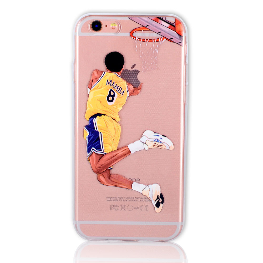 Basketball player soft case cover for iPhone SE 5s 6 6s 7 8 plus X 10 XS Max XR