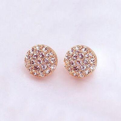 Elegant Fashion Women Lady Circle Crystal Rhinestone Ear Stud Earrings Jewelry for sale  Shipping to Canada