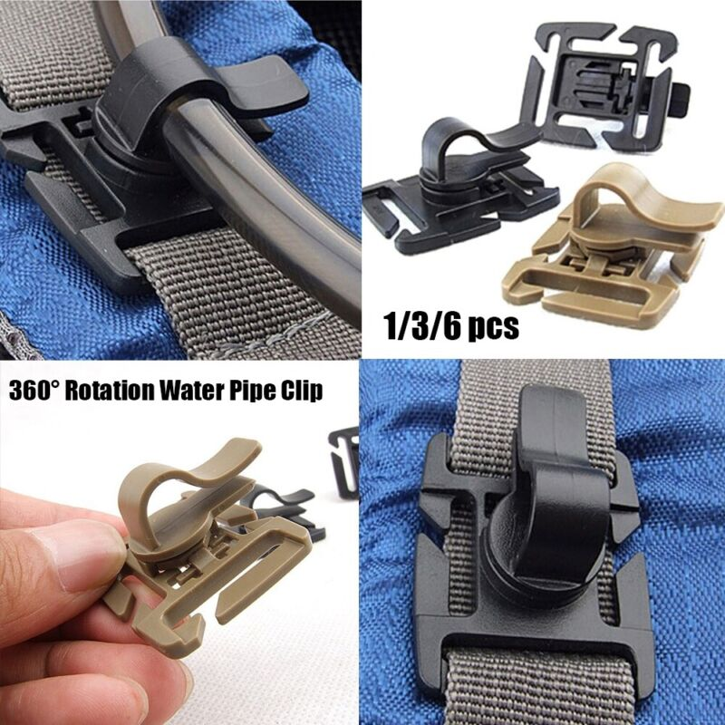 Buckle Drink Tube Clip Camping Hiking Accessories EDC Outdoor Carabiner