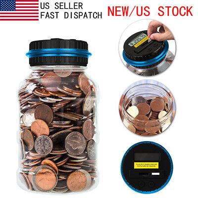Piggy Bank Digital Automatic Counting Coin Bank Jar Large Money Saving Box LCD