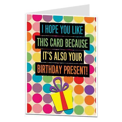 Funny Sarcastic Birthday Card For Men & Women For Brother Sister Best
