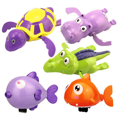 Swimming Wind Up Turtle Pool Animal Floating Toys For Baby Kids Bath Fun Time