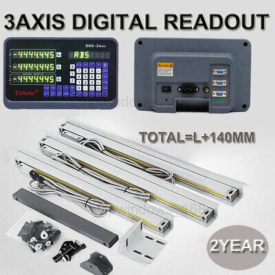 3 Axis Digital Readout Dro Ttl Linear Glass Scale Bridgeport Mill 350450950mm
