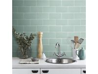 Beautiful green / sage tiles for kitchen or bathroom –2.52 sq. m