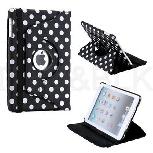 For iPad Mini 2 Retina 360 Degree Rotating Leather Case Smart Cover Swivel Stand