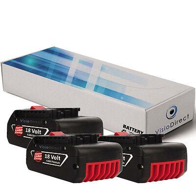 Lot de 3 batteries 18V 4000mAh pour Bosch GSB 18 VE-2-LI -...