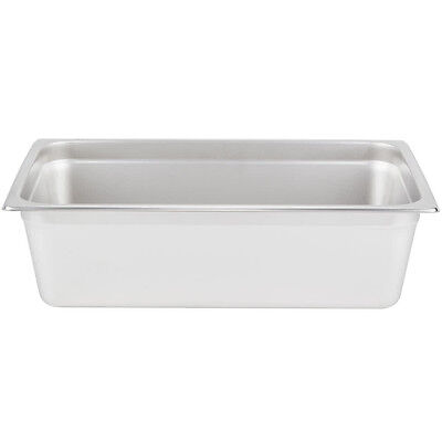 Full Size 6 Deep Stainless Steel Steam Prep Table Hotel Buffet Food Banquet Pan