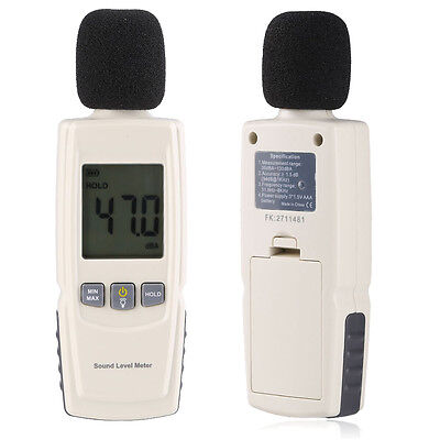 Lcd Digital Sound Pressure Level Meter Decibel 30-130db Noise Measuring Tester