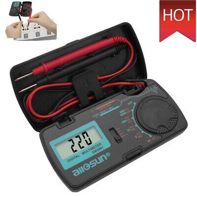 Mini Pocket Digital Multimeter Ohm Dmm Tester Volt Meter Diode Continuity Lcd Us
