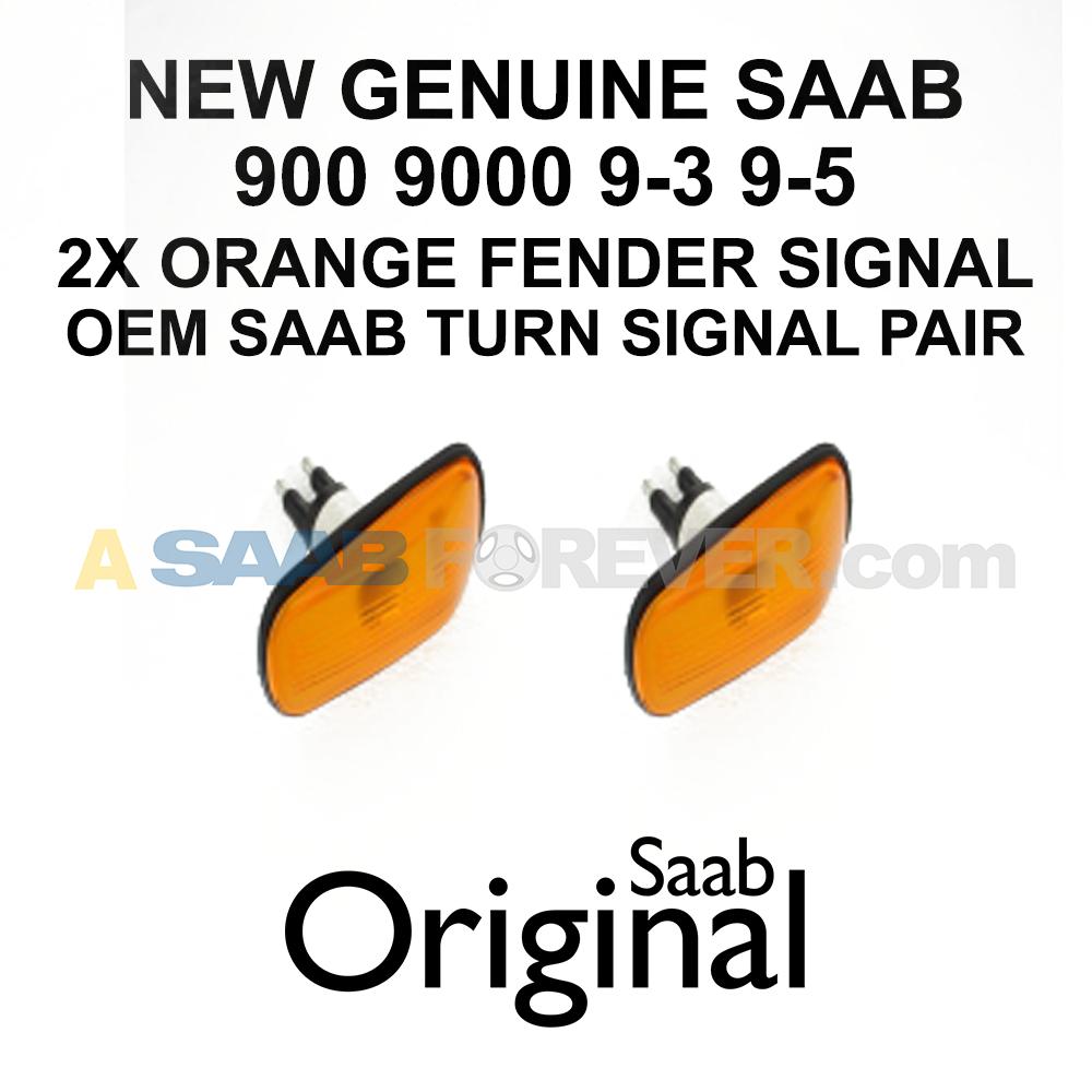 2x Chrome Indicator Bulbs Saab 9-3 93 9-5 95 /& 900 o