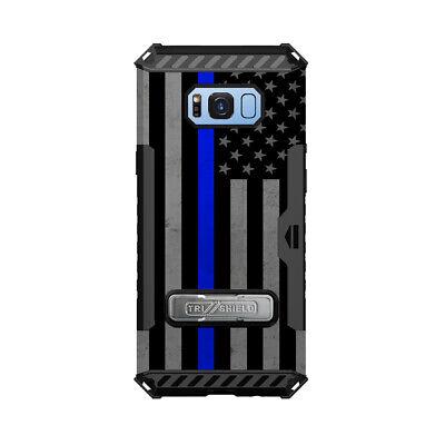 Trishield Hybrid Phone Case for Samsung Galaxy S8 Thin Blue Line USA -
