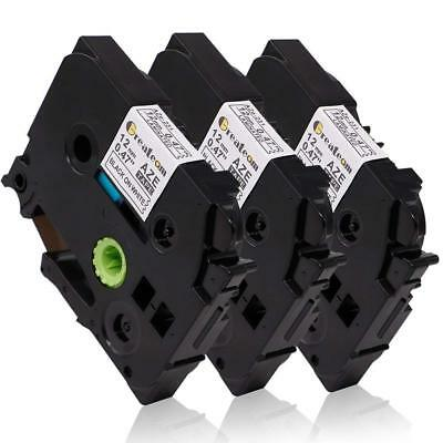 3pk Compatible For Brother P-touch Label Print Tape Tze-231 Standard 12mm 12