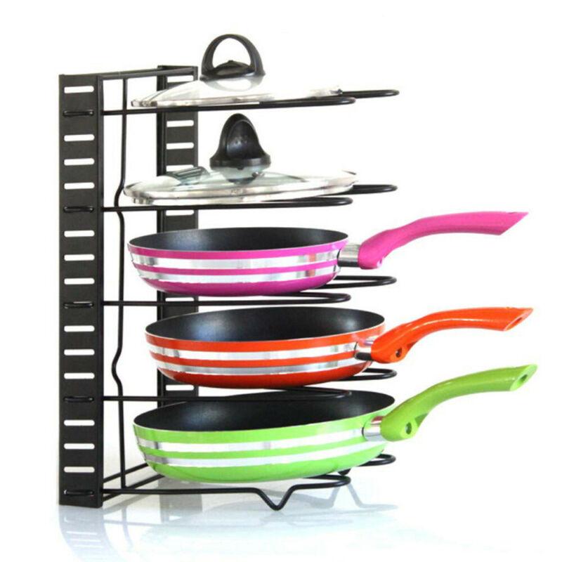 Adjustable Cabinet Pantry Pan Storage And Pot Lid Organizer