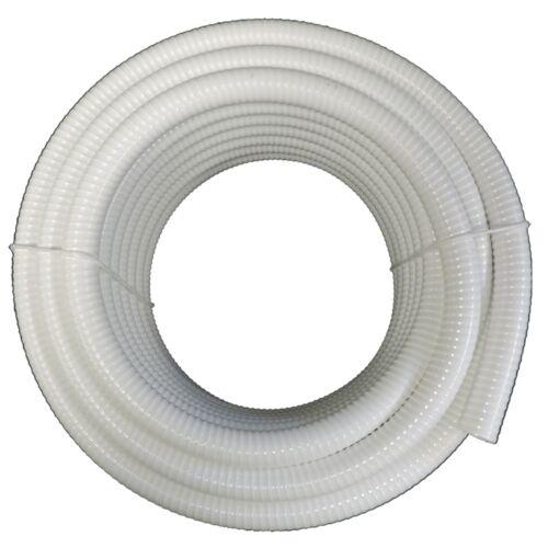 """1.5"""" Dia. White Flexible PVC Pipe, Hose & Tubing for Spas & Pools"""