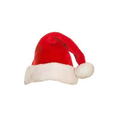 Santa Hut Super Luxus Plüsch Weihnachten Erwachsene Damen Herren Kostüm - Super Santa Kostüm