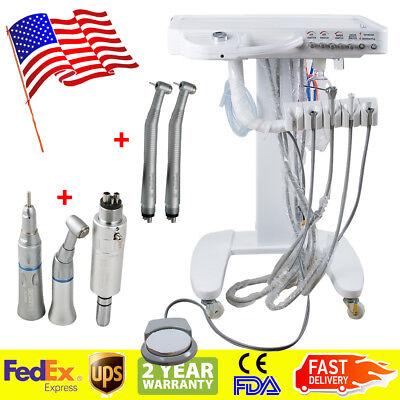 Usa Portable Dental Delivery Cart Unit System 4-hole No Compressor Handpiece Kit