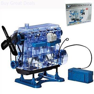Smithsonian Motor Works Gas Engine Model Kit Educational Toy Children Kids Hobby