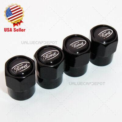 - Hex For Black Ford Logo Emblem Car Wheels Tire Air Valve Caps Stem Dust Cover