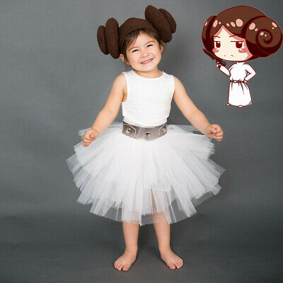Princess Leia Organa Child Kids Halloween Cosplay Costume](Baby Princess Leia Halloween Costume)