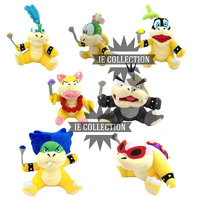 SUPER MARIO BROS. 7 koopalings Plüsch Puppen koopa larry koopalings BOWSER jr Super Mario Plüsch-puppen