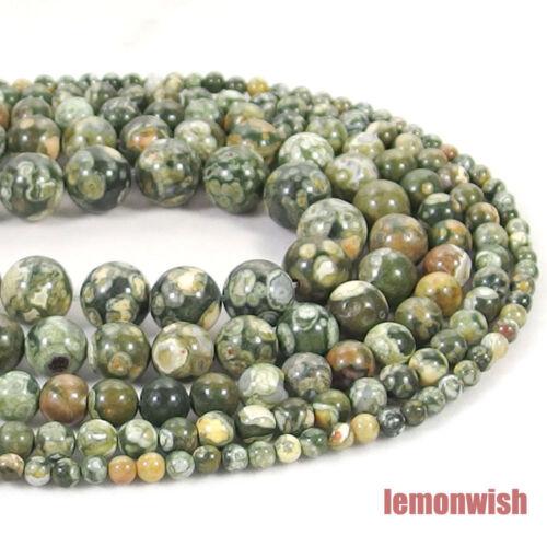 Natural Peacock Jasper Stone Spacer Beads 15.5