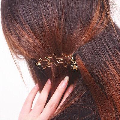 Hot Women Ladies Girls Popular Hollow Star Tassel Hairpin Clips Hair Accessories
