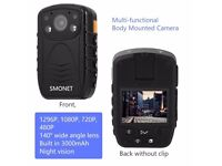 Smonet 1296P HD Police Body Camera, Multi-functional Body Worn Camera with 32GB
