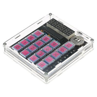 Diy Calculator Kit Digital Tube Led Display Transparent Case Pre-programmed P0y5