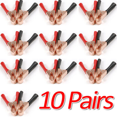 20x -md Redblack Car Battery Test Lead Clip Crocodile Alligator Clamps 50a 80mm
