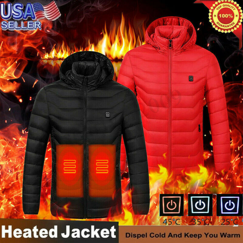Winter Mens Smart USB Abdominal Back Electric Heating Warm D