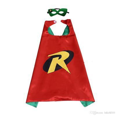 Robin Cape And Mask (Robin Costume Cape and Mask Set Kids DC Comics Superhero Boys / Girls Dress)