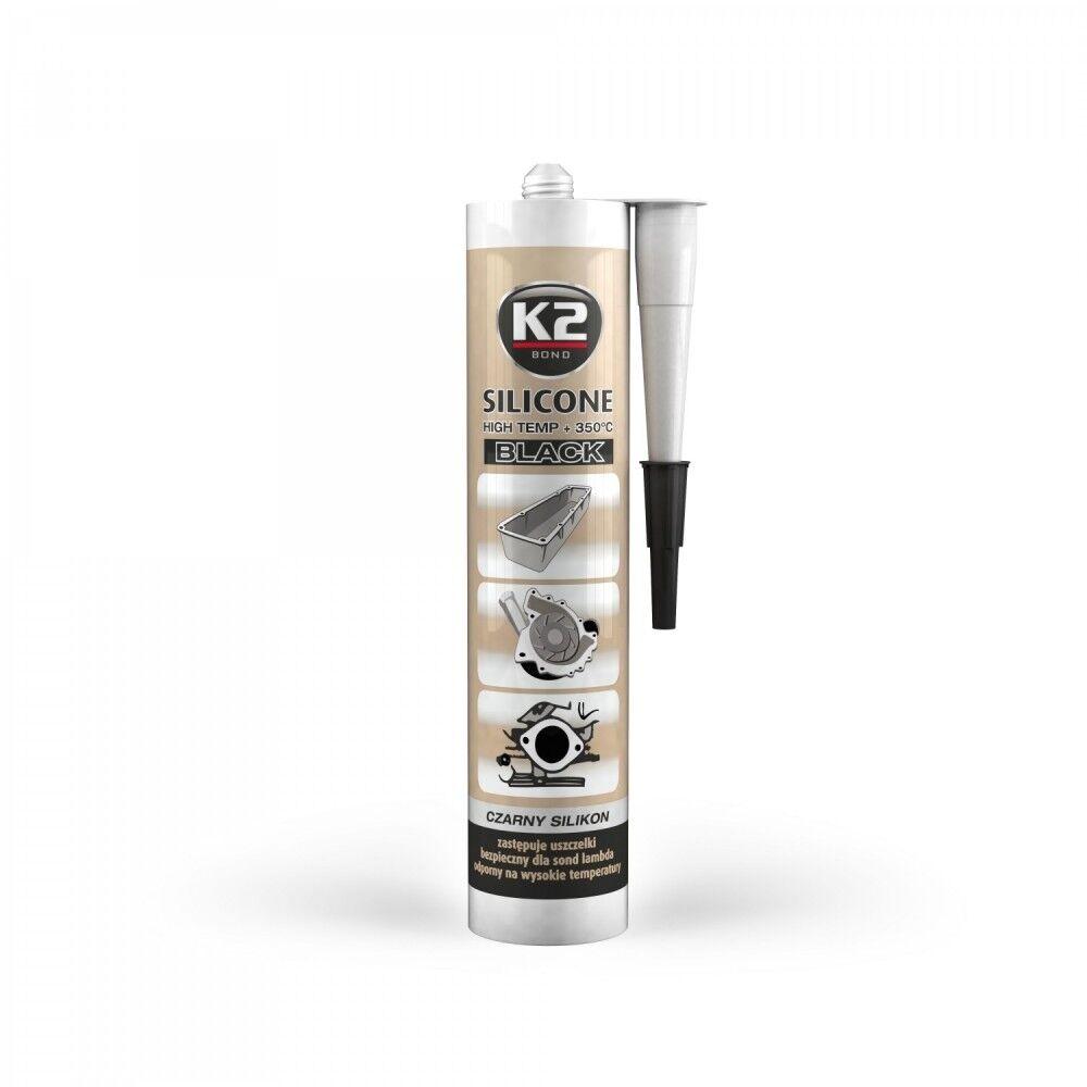 K2 Silikon Silikon Hochtemperatur Dichtmasse +350° schwarz 300g