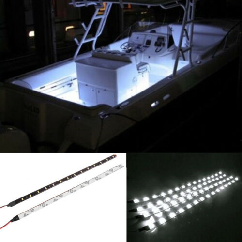 4X Ultra White LED Boat Light Deck Courtesy Bow Trailer Pontoon 12V Waterproof
