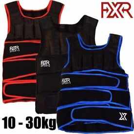 FXR SPORTS WEIGHTED VEST 10,15,20,30kg ADJUSTABLE WEIGHTED VEST RUNNING GYM