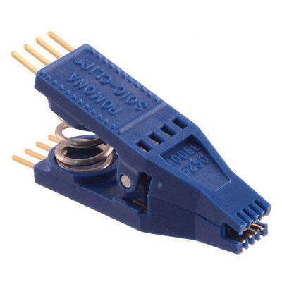 """Pomona Electronics 5250 8-Pin Gold Plated SOIC Clip Test Clip with 0.1"""" Lead Spa"""