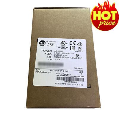 Safety Allen Bradley 25b-d4p0n104 Powerflex 525 1.5kw 2hp Ac Drive