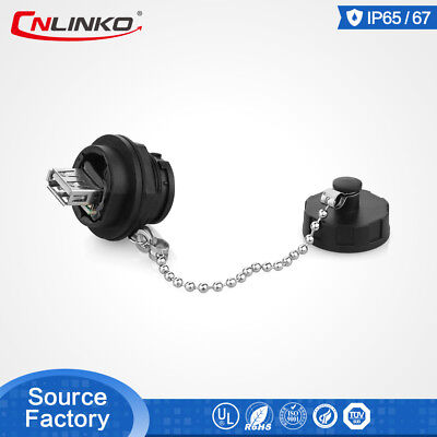 Cnlinko Usb2.0 Cable Connector 4pin Waterproof Ip67 Female Socket Data