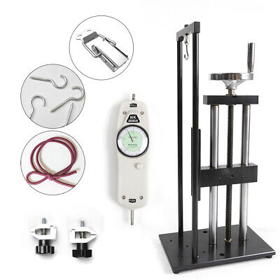 500n Vertical Screw Test Stand W Push Pull Force Gauge Tensile Stand Tester Us