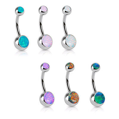 Belly Ring 14g 14 Gauge - 316L Surgical Steel Navel Belly Button Ring 3/8