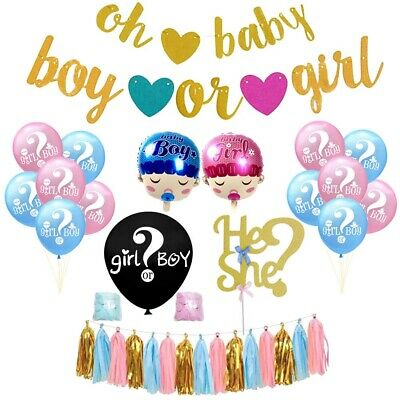Gender Reveal Party Supplies/Boy Girl Baby Shower Kit Balloon Cake Topper](Baby Boy Party Supplies)