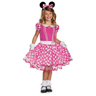 Girls Pink Minnie Tutu Prestige Halloween Costume - Cartoon Character Costumes For Girls