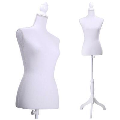 Adjustable Female Mannequin Torso Dress Form Display W Tripod Stand Us Ship