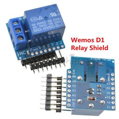1 Ch 12v Wemos D1 Mini Esp8266 Wifi Relay Shield Development Board For Arduino