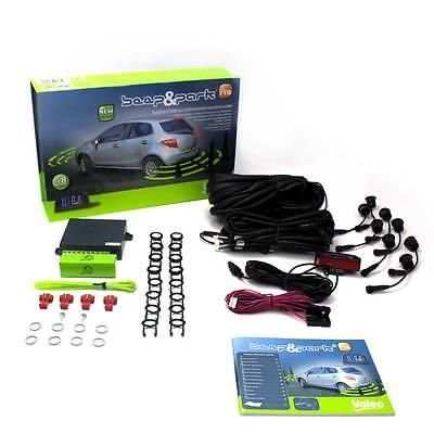 VALEO Beep & Park Kit 5 Einparkhilfe 632004 Vorne Hinten 8 Sensoren LCD Display