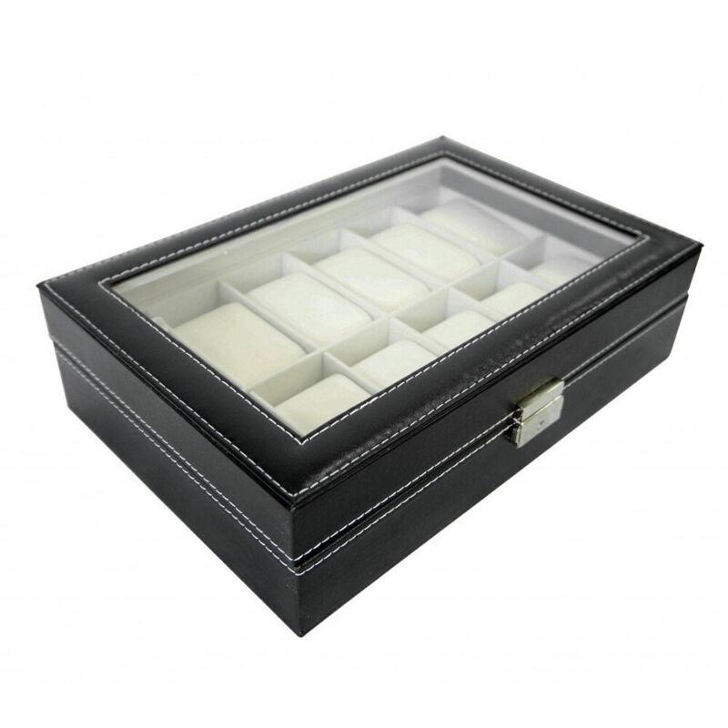 NEU Uhrenbox Uhrentruhe Uhrenkasten Uhrenkoffer Für 12 Uhren Uhrenschatulle A+