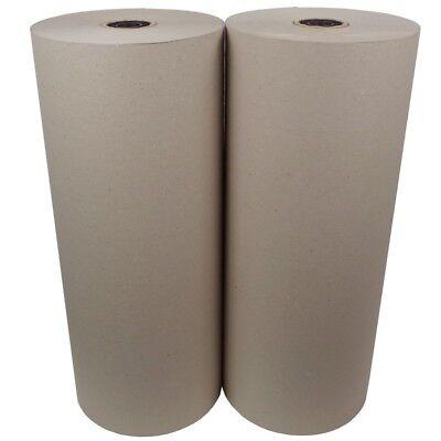 2 Rollen Schrenzpapier Packpapier 80g/m² 50 cm x 250 lfm a 10 kg mit Innenhülse