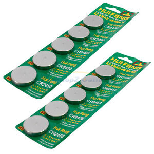 10 xNew CR2450 CR 2450 DL2450 3V Lithium Cell Coin Battery
