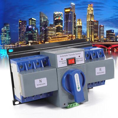 4p Dual Power Automatic Transfer Switch Cb Level 6a-63a 50hz60hz Generator Sale